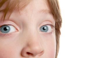 Child's azure eyes